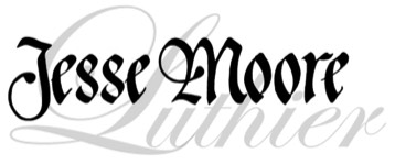jesse moore luthier written in calligraphy